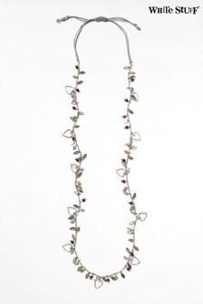 White Stuff Halskette mit Herzdesign aus Halbedelsteinen, Gelb