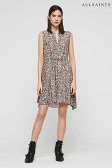 All Saints Leopard Print Clari Dress