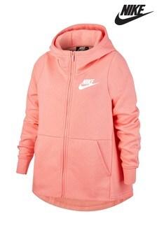 Nike Pink Zip Through Hoody