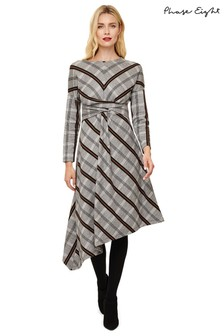 Phase Eight Grey Cicilia Check Dress