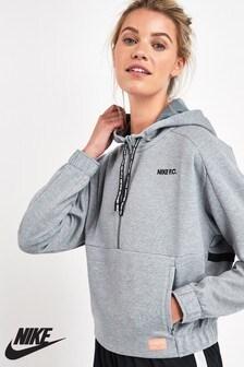 Nike FC Dry Grey 1/2 Zip Hoody