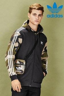 Sweat à capuche zippé à 3 bandes à imprimé camouflage adidas Originals