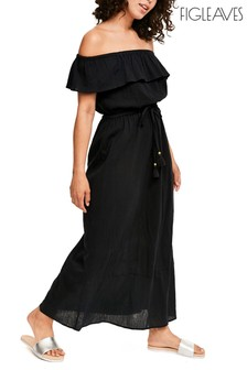 Figleaves Black Hanna Off Shoulder Maxi Dress