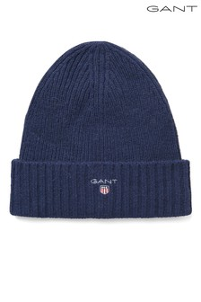 GANT Navy Wool Lined Beanie
