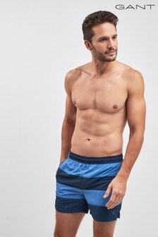 GANT Rugby Blue Stripe Swim Classic Fit Short