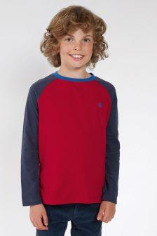 FatFace Red Ringer Raglan T-Shirt