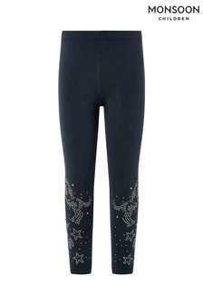 Monsoon Navy Unicorn Hot Fix Legging
