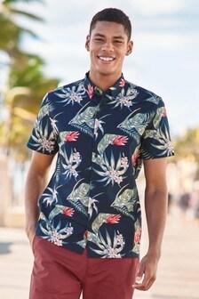 Hawaiian Leaf Short Sleeve Shirt