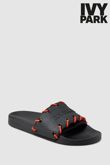 Ivy Park Black Stitch Slider