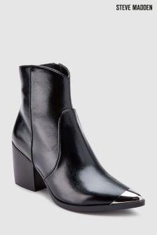 Steve Madden Black Preston Western Ankle Boot