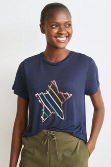 Rainbow Star Graphic T-Shirt