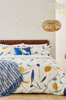 Scion Oxalis Cotton Lemon Floral Duvet Cover and Pillowcase Set
