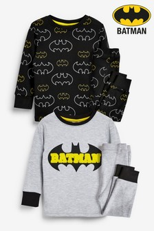 2 Pack Batman® Snuggle Pyjamas (9mths-8yrs)