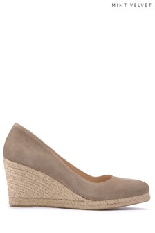 Mint Velvet Natural Grace Pointed Toe Espadrille Wedge