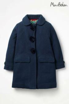 Boden Blue Wonderful Wool Coat