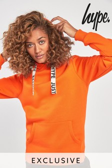 Hype. Orange Drawstring Hoody