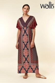 Wallis Blue Paisley Wrap Border Maxi Dress