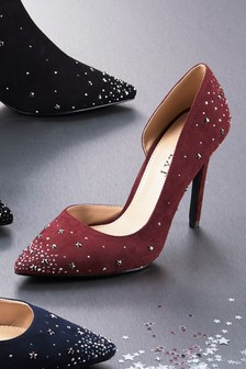 Star Stud Detail Court Shoes