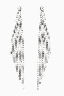 Sparkle Detail Chain Drop Earrings