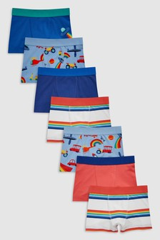 Transport Print Trunks Seven Pack (2-12yrs)