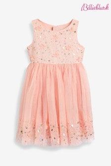 Розовое атласное платье Billie Blush
