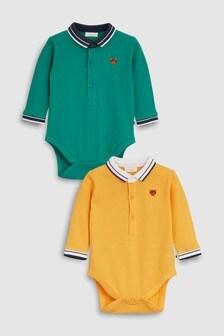 Poloshirt Bodysuits Two Pack (0mths-2yrs)