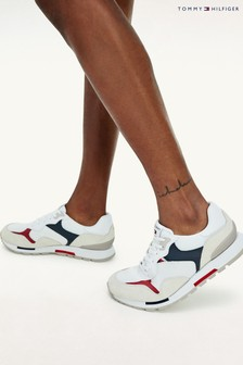 Tommy Hilfiger White Retro Mix Runner Trainers