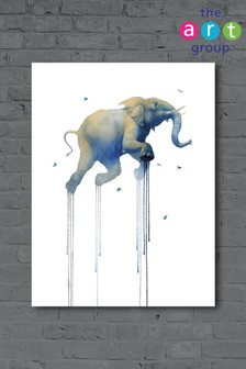 Journey 1 Elephant by Oliver Flores Canvas