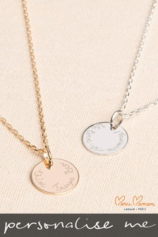 Personalised Flat Disc Necklace by Merci Maman