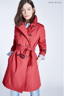 Trench Jack Wills Ambrose rouge baie