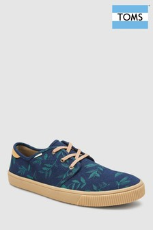 Toms Navy Denim Lace Up Shoe