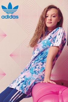 adidas Originals Pink/Blue Marble Dress