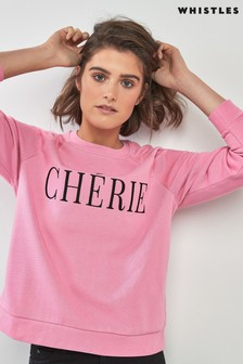 Whistles Sweatshirt mit Chérie-Stickerei