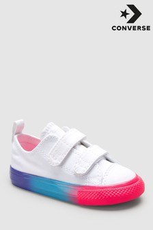 Converse Infant White Rainbow 2 Velcro Trainers