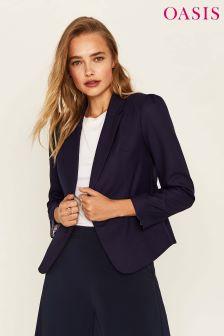 Oasis Blue Ria Workwear Jacket