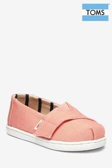TOMS Pink Coral Slip-On