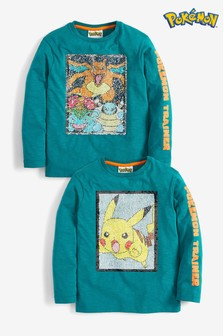 Long Sleeve Sequin Change Pokémon T-Shirt (3-14yrs)