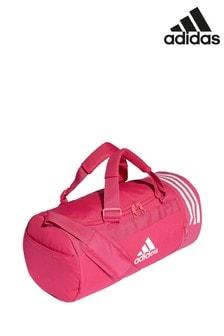 adidas Pink 3 Stripe Duffle Bag