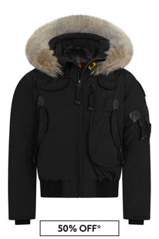 Boys Black Gobi Down Padded Jacket