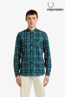 Fred Perry Green Tartan Shirt
