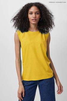 French Connection Crepe Light Capped Sleeve T-Shirt