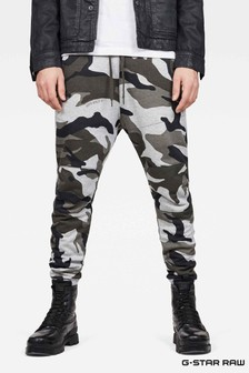 G-Star Grey Asfalt Graph Straight Tapered Pant Trouser
