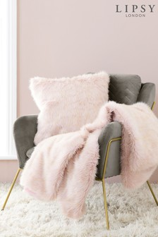 Lipsy Metallic Faux Fur Throw