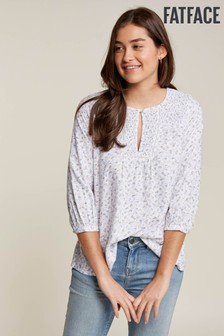 FatFace Natural Remi Ditsy Bud Blouse