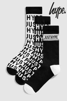 Hype. Mono Print Socks 3 Pack