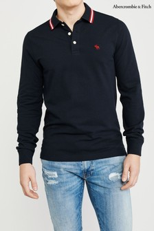 Abercrombie & Fitch ネイビー Core ポロTシャツ