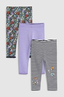 內搭褲三件組 (3個月至7歲)