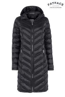 FatFace True Black Louisa Longline Padded Jacket