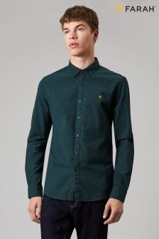 Farah Green Steen Slim Long Sleeve Shirt