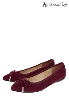 Accessorize Red Harper Elasticated Point Shoe